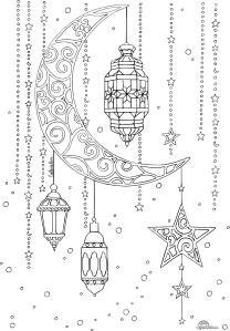 lune lanterne ramadan